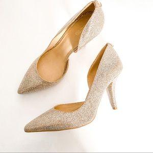 Michael Kors Glitter High Heel Pumps Size 10
